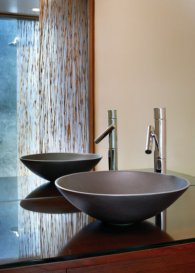 Great Asian Bathroom by Tracy A Stone Architect