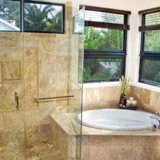 Tropical Bathroom by Farrell Design Assoc Inc,