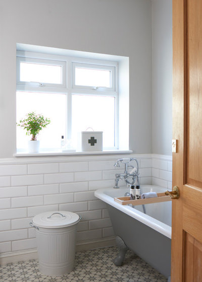 Transitional Bathroom by Interior Therapy