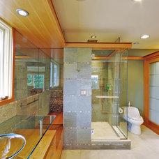 Contemporary Bathroom by SunSwallow Design, LLC