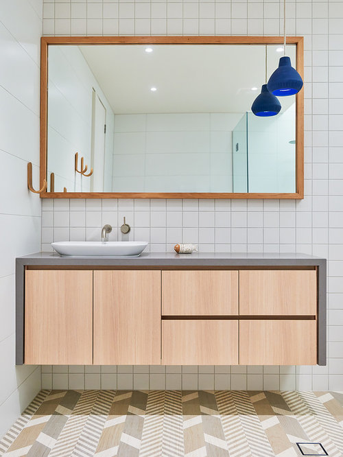 design ideas for a large contemporary bathroom in adelaide with light wood cabinets a freestanding - Bathroom Designs Adelaide