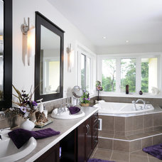 contemporary bathroom by Cedarstone Homes Limited