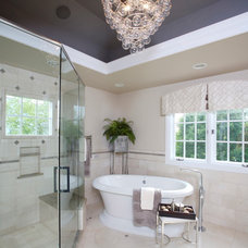 Eclectic Bathroom by Susan Brunstrum of SWEET PEAS DESIGN INC