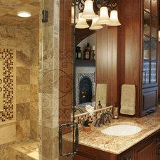 Mediterranean Bathroom by Ronda Divers Interiors, Inc.