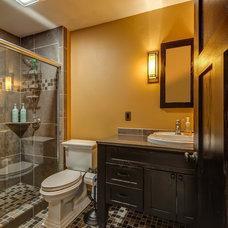 Craftsman Bathroom by W2Design, LLC