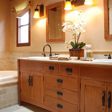 Mediterranean Bathroom by EB Knight Construction
