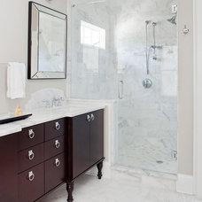 Transitional Bathroom by TerraCotta Studio