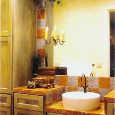Mediterranean Bathroom by Patrick Landrum Design
