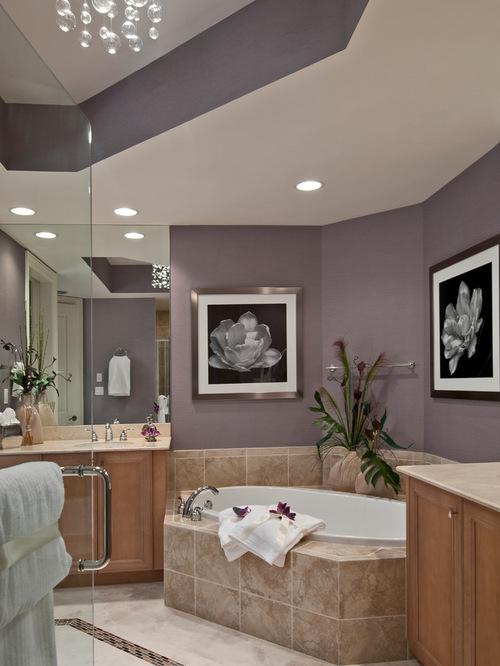 purple bathroom walls houzz