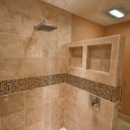 Open shower without door - Asian - Bathroom - Seattle - by Christine Suzuki, ASID, LEED AP