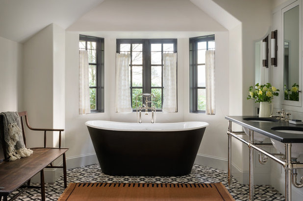 Mediterranean Bathroom by Jessica Helgerson Interior Design