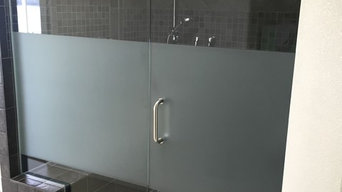 Estate Frameless with Satin Etch Privacy Screen