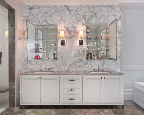 Wall Sconces Beside Medicine Cabinets   Houzz