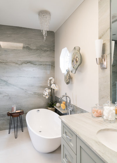 Transitional Bathroom by Dona Rosene Interiors