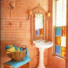 Eclectic Bathroom by Ellen Kennon