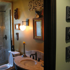 eclectic bathroom by Cheryl D & Company