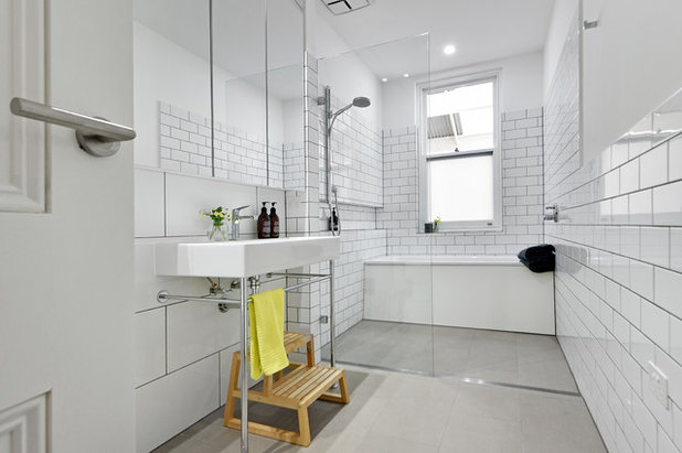 Transitional Bathroom by Urban Habitats