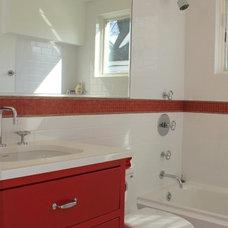 Traditional Bathroom by IDEA + Build, LLC