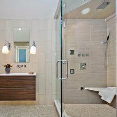 Contemporary Bathroom by Evelyn Benatar, New York Interior Design