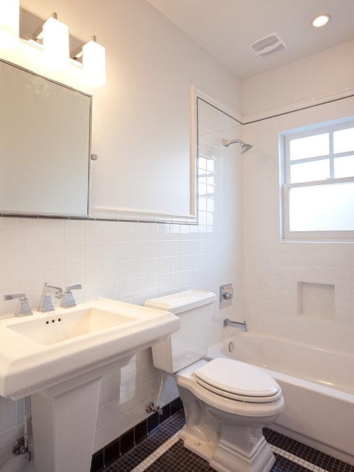 Traditional Bathroom Idea In Atlanta With A Pedestal Sink