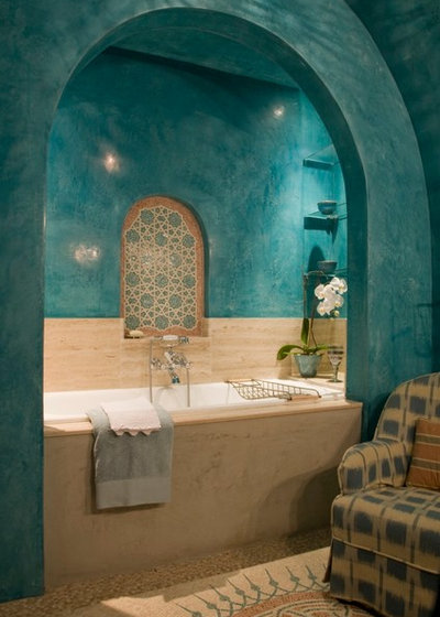 Средиземноморский Ванная комната by Casa Mosaica Studio