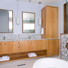 Contemporary Bathroom by Dansky Handcrafted LLC