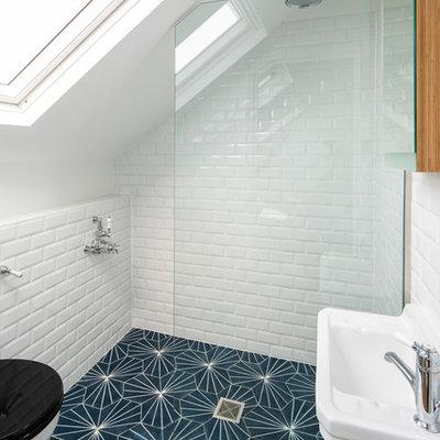 Bathroom - small victorian master bathroom idea in London