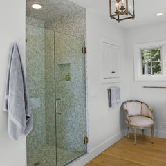 eclectic bathroom by Tate + Burns Architects LLC
