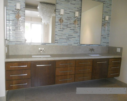 floating double sink vanity.  Extra Long White Oak Floating Double Sink Vanity