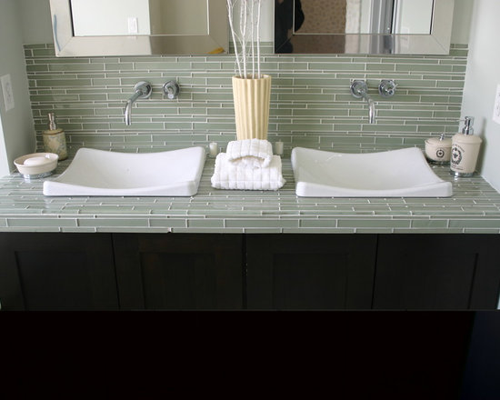 how to tile kitchen countertop glass tile counter houzz 7366