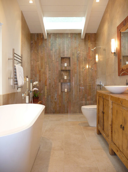 Rustic Bathroom by OBERHAUSER INTERIORS