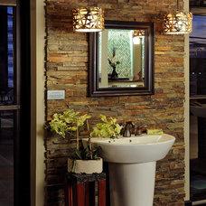 Asian Bathroom by Mosaic Tile Company