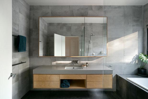 Contemporary Bathroom by Excelsior Master Builder