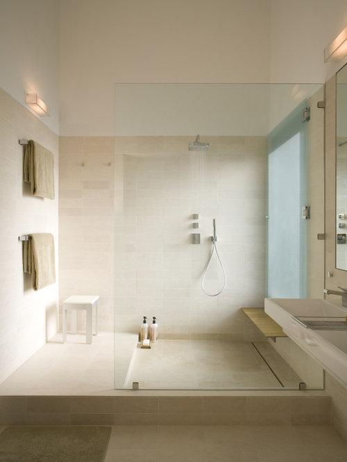 Open doorless shower home design ideas renovations photos for Open bathroom designs pictures