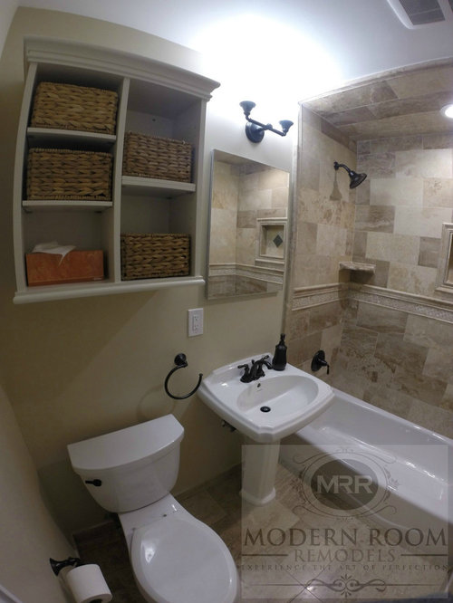 Mid sized traditional bathroom design ideas renovations for Mid size bathroom ideas