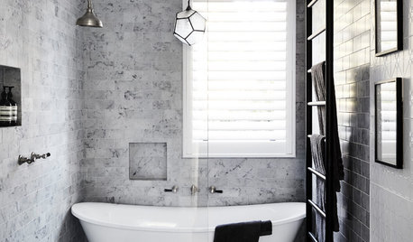 Room of the Week: Grey and White Done Right in a Bathroom Reno