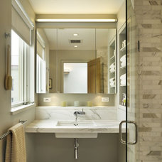 Transitional Bathroom by Rasmussen / Su Architects