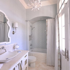 Transitional Bathroom by Traci Connell Interiors