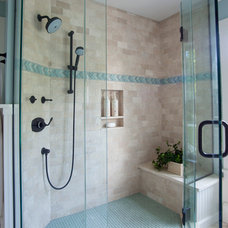 Beach Style Bathroom by Ronald F. DiMauro Architects, Inc.