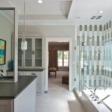 Transitional Bathroom by June DeLugas Interiors