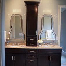 Transitional Bathroom by Bloomday Granite