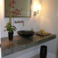 contemporary bathroom by Anisa Interiors