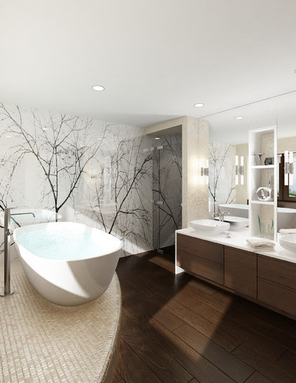 Modern Bathroom by Utanagel Design