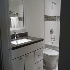 Contemporary Bathroom by Terri Wills, Dip. Building Technology