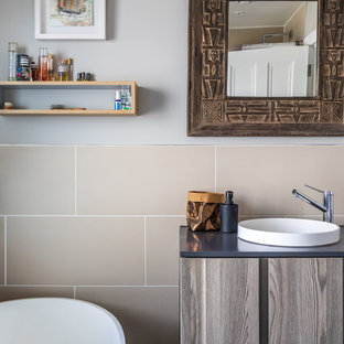 Inspiration for a contemporary bathroom in Cambridgeshire.