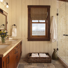 Rustic Bathroom by Swaback Partners, pllc