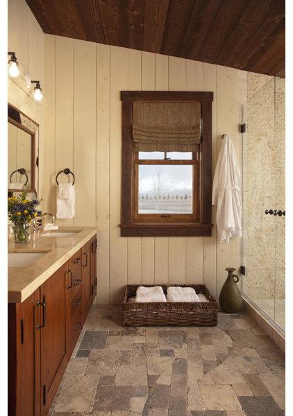 Rustic Bathroom by Swaback Partners, pllc