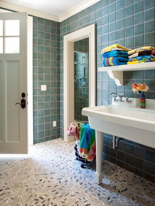 Pool bath houzz for Outdoor pool bathroom ideas