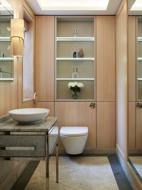 Inspiration for a small contemporary shower room in Sussex with flat panel  cabinets  light. Small Shower Room Ideas  Designs   Pictures
