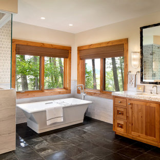 Bathroom - rustic bathroom idea in Other